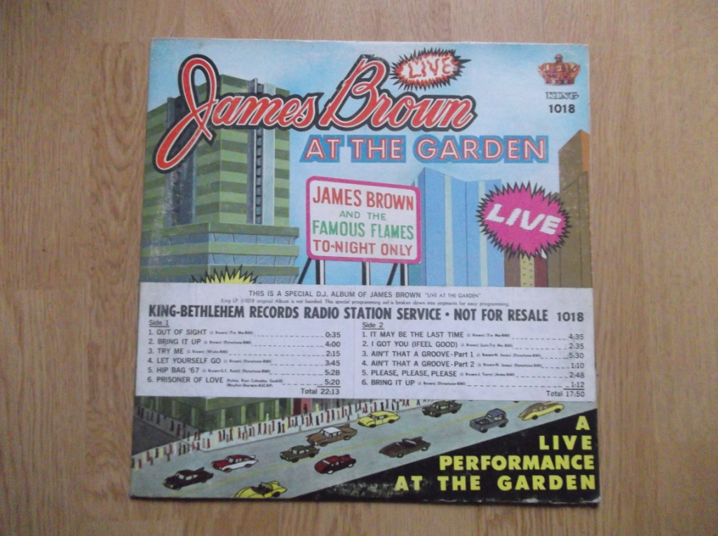 JAMES BROWN & THE FAMOUS FLAMES - Live At The Garden - 33T